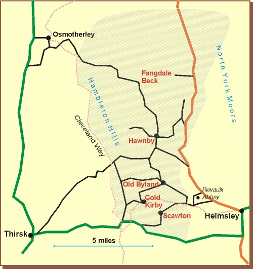 Map of the Parish of Upper Ryedale